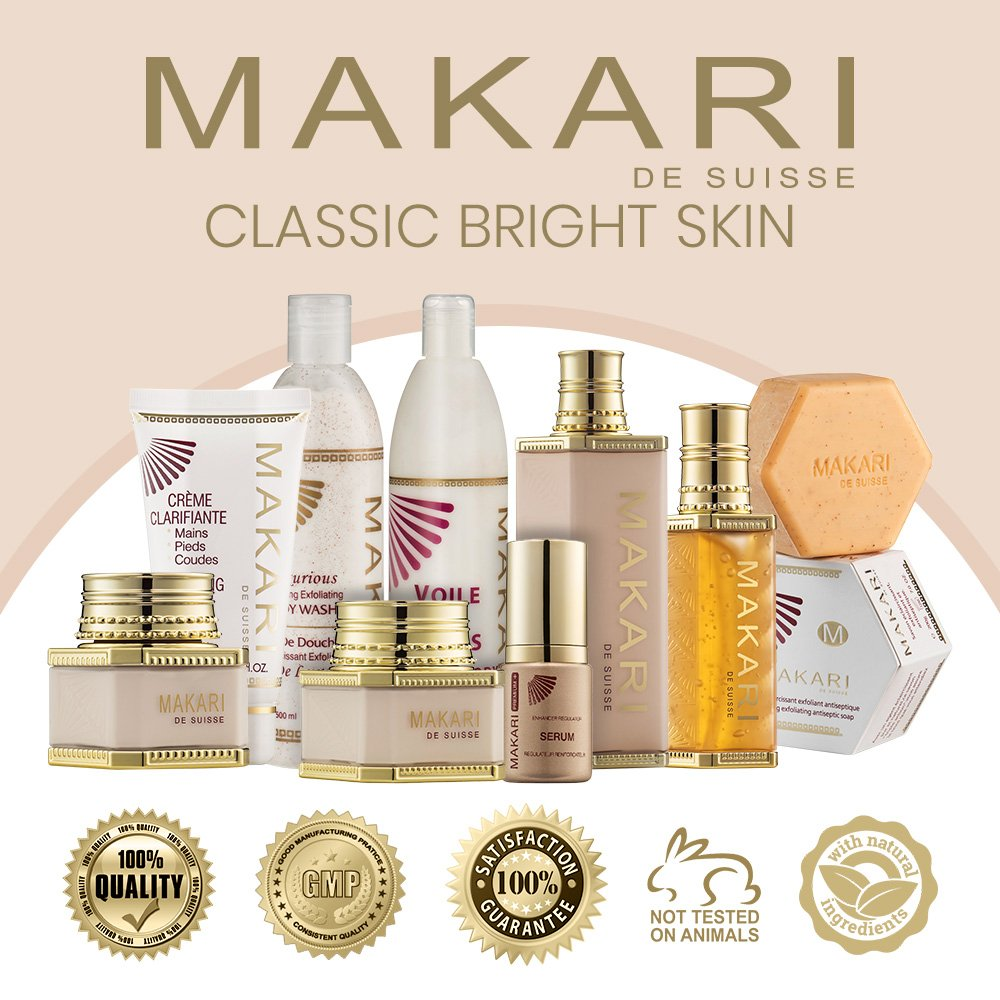 Makari Classic Premium+ Beauty Skin BODY Milk 4.75 fl.oz – Intense, Toning Body Lotion – Daily Moisturizing Treatment for Dark Spots, Acne Scars & Hyperpigmentation