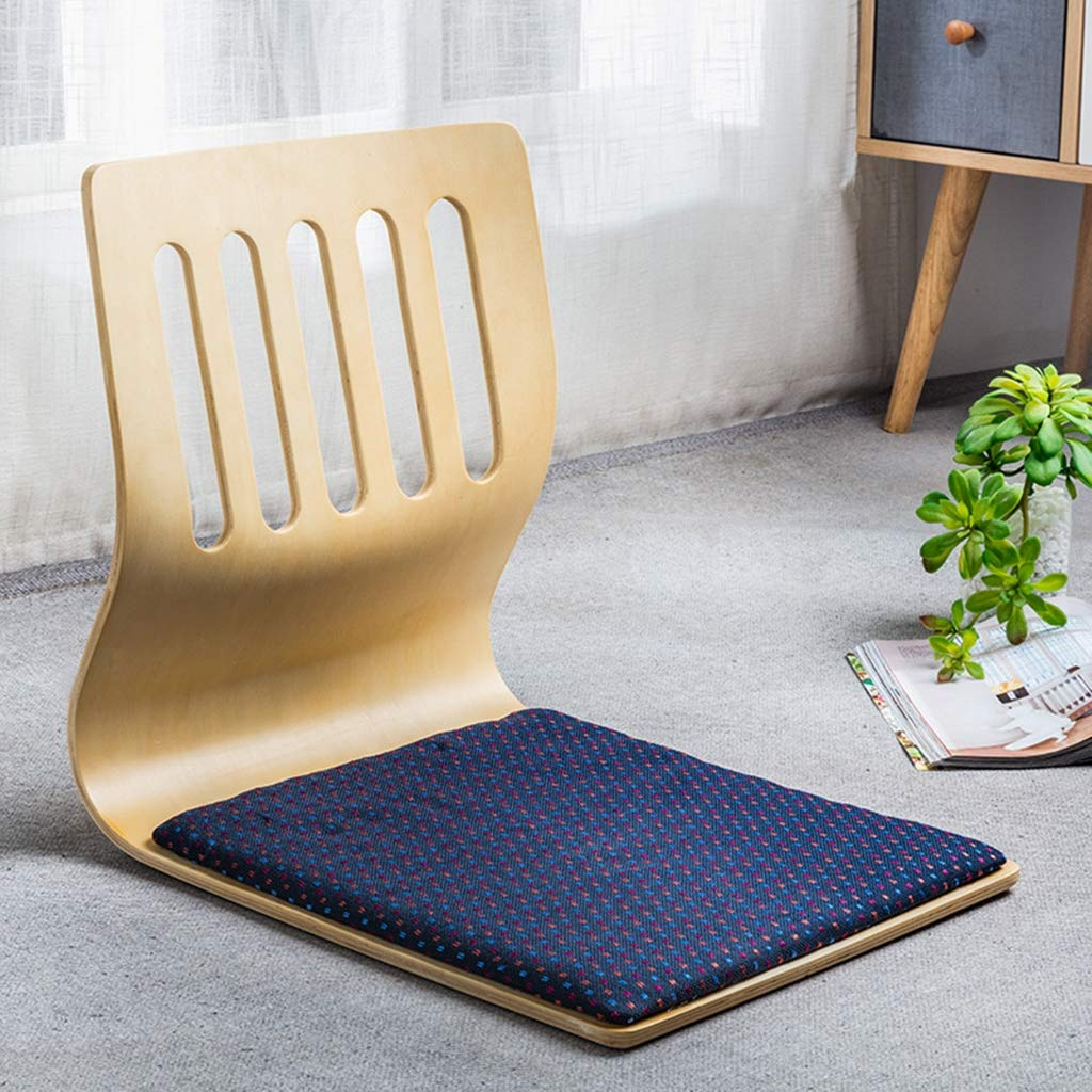 Japanese Legless Chair,Tatami Room Chair,Bed Dormitory Back Chair Bay Window Backrest Chair Lazy Chair Cushion,A