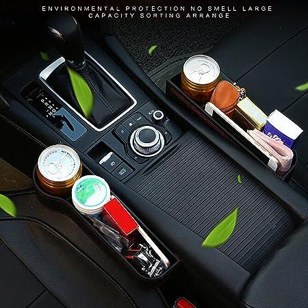 Lembeauty PU leather car seat filler Gap spazio di archiviazione box Cup Bottle mobile phone Holder Coin Collector console tasca laterale