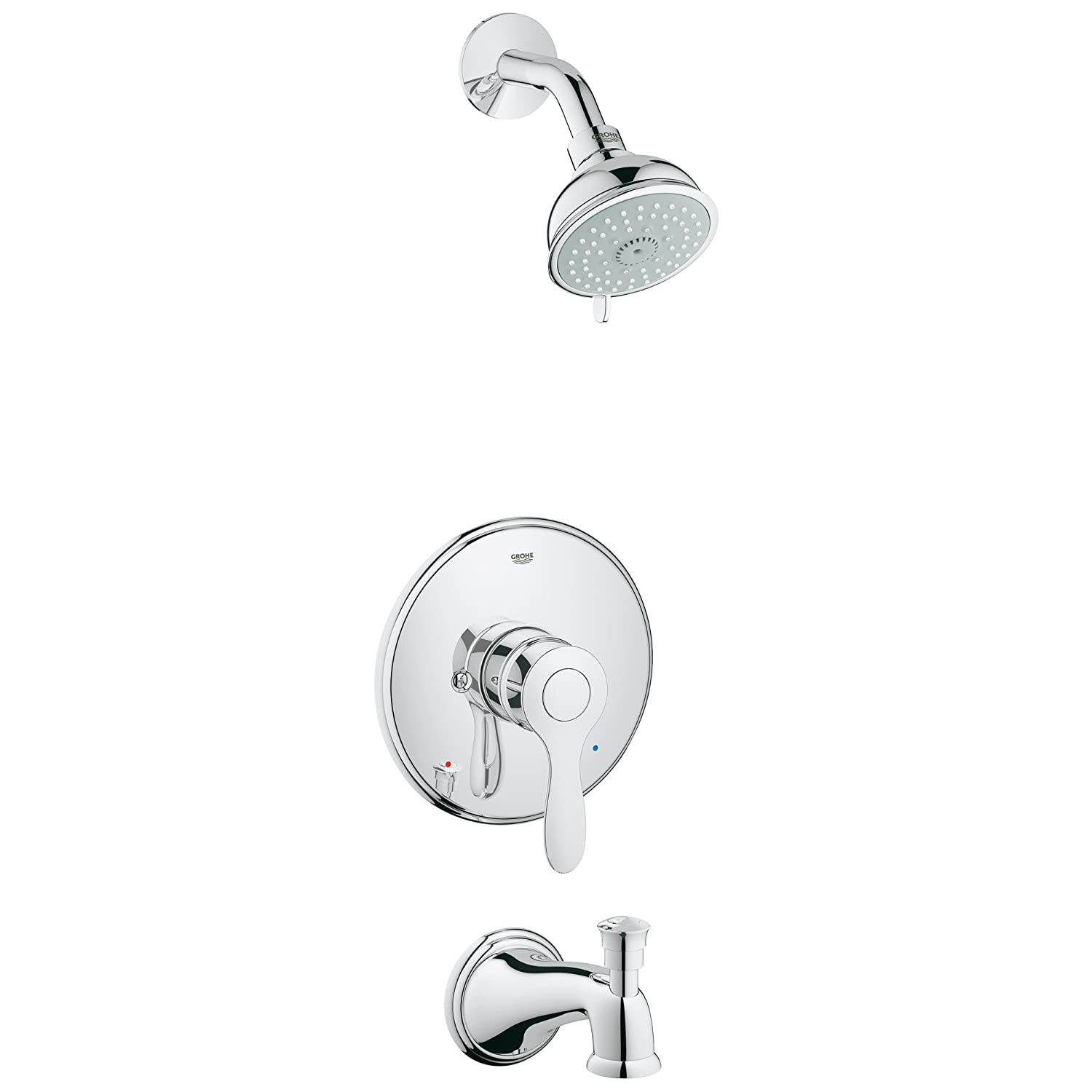Grohe 35 040 000 Parkfield Single-Handle 4-Spray Tub and Shower ...