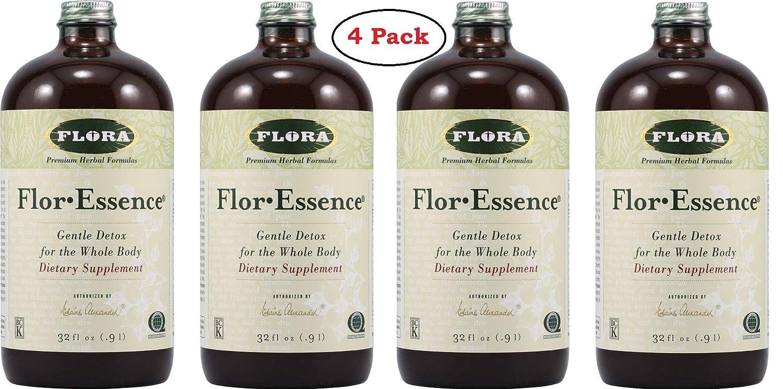 Flora Flor-Essence Tea Cleanse 32 Oz – Pack of 4 Bottles