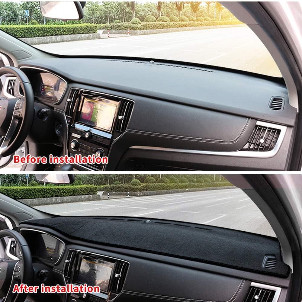 Dashboard Cover Dash Cover Mat Pad Custom Fit for Lexus RX350 RX270 2009-2015 Model Set Black Line