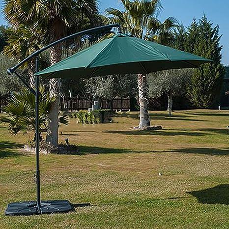 Arcoiris SOMBRILLA Jardin Exterior Grande 300 cm, Sombrilla Jardín, Sombrilla con Manivela, Protección Solar, Parasol para Exterior, Jardín, Balcón y Terraza (Verde): Amazon.es: Jardín
