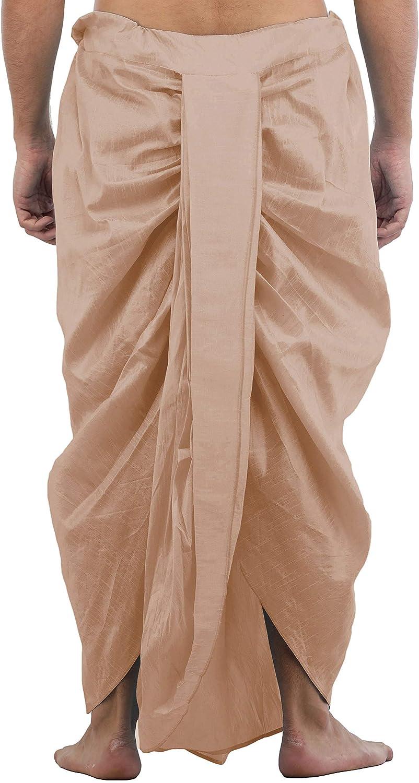 Maenner-Dhoti-Dupion-Silk-Plain-handgefertigt-fuer-Pooja-Casual-Hochzeit-Wear Indexbild 53