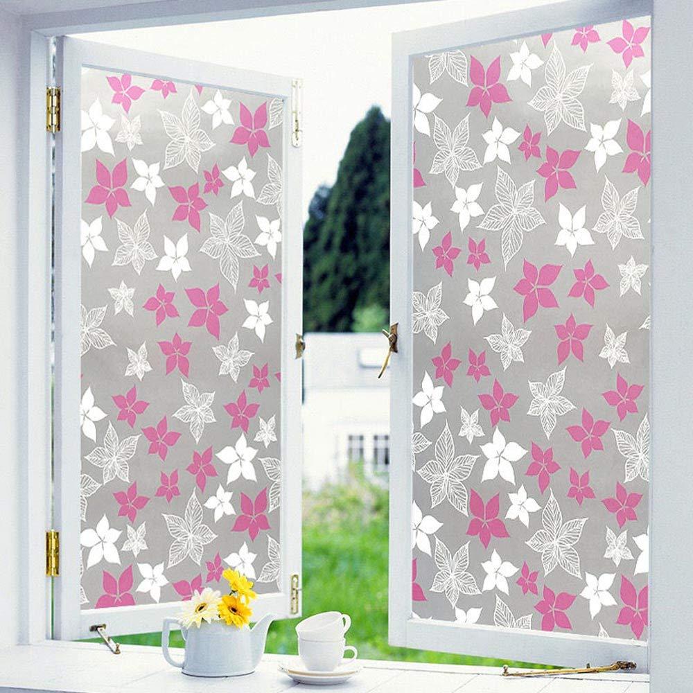 60(23.6in)100(39.4in)cm Static Cling Window Film 3D No-Glue Decorative Privacy Glass Film,Anti-UV Non Adhesive Opaque Glass Decorative Privacy Film,for Bedroom Bathroom Living Room Office,60(23.6in)100(39.4in) cm