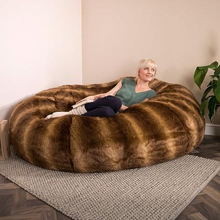 Superbe Icon Cloud Extra Large Faux Fur Bean Bag Two U2013 Giant Furry Beanbag Love  Seat Sofa