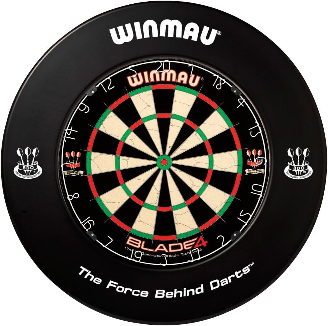 WINMAU Dartboard Surround Dart-Auffangring Dart-Catchring schwarz PRINTED