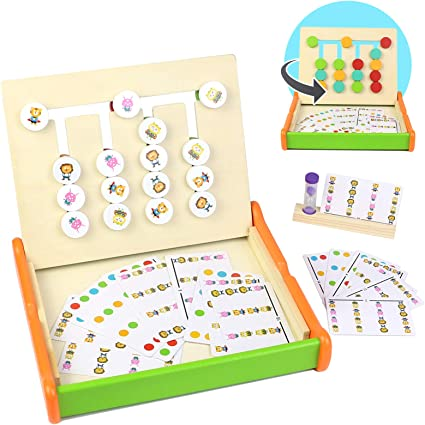 Symiu Juguetes Montessori Juegos de Mesa Actividades Bebe Puzzles Animal y Color Bloques y Tarjetas Tablero Madera Juego Educativo Regalo para Niños Niña 3 4 5 6 Años: Amazon.es: Juguetes y juegos