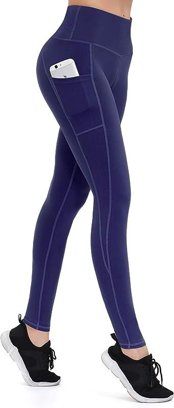 Poche Legging Yoga Pantalon Fitness Leggings Sports Legging Taille Élastique Femmes c