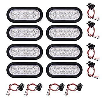 amazon com 12v oval sealed led truck tractor trailer tail light rh amazon com Tractor-Trailer Wiring Diagram Tractor-Trailer Wiring Diagram
