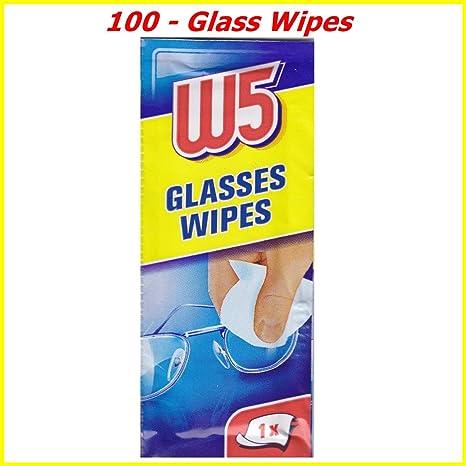 100 LIMPIEZA WIPES Adecuado para limpiar gafas, cámaras, binoculares, espejos de coche,