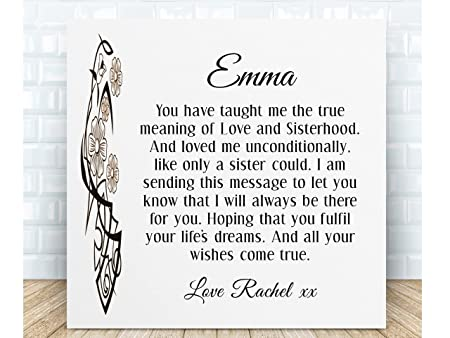 Personalised sister poem gift ceramic plaque boxed the perfect personalised sister poem gift ceramic plaque boxed the perfect sentimental gift for birthdays stopboris Images