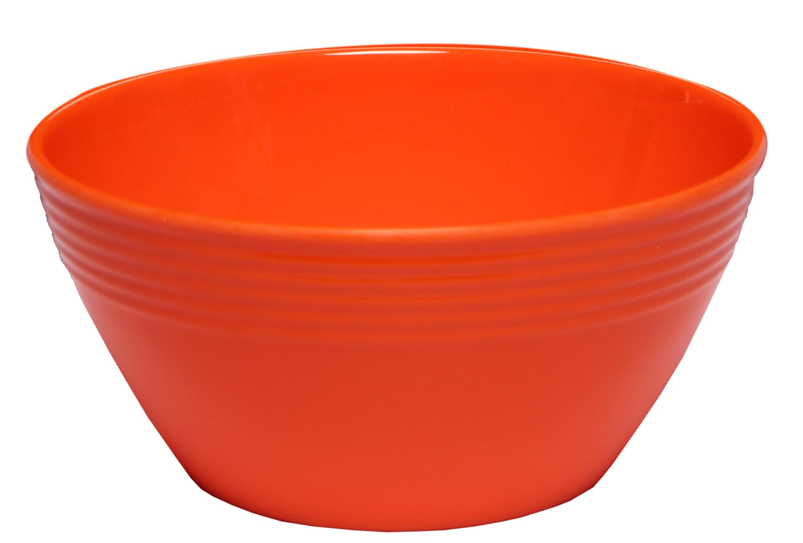 Melange 6-Piece Melamine Bowl Set (Solids Collection) | Shatter-Proof and Chip-Resistant Melamine Bowls | Color Orange
