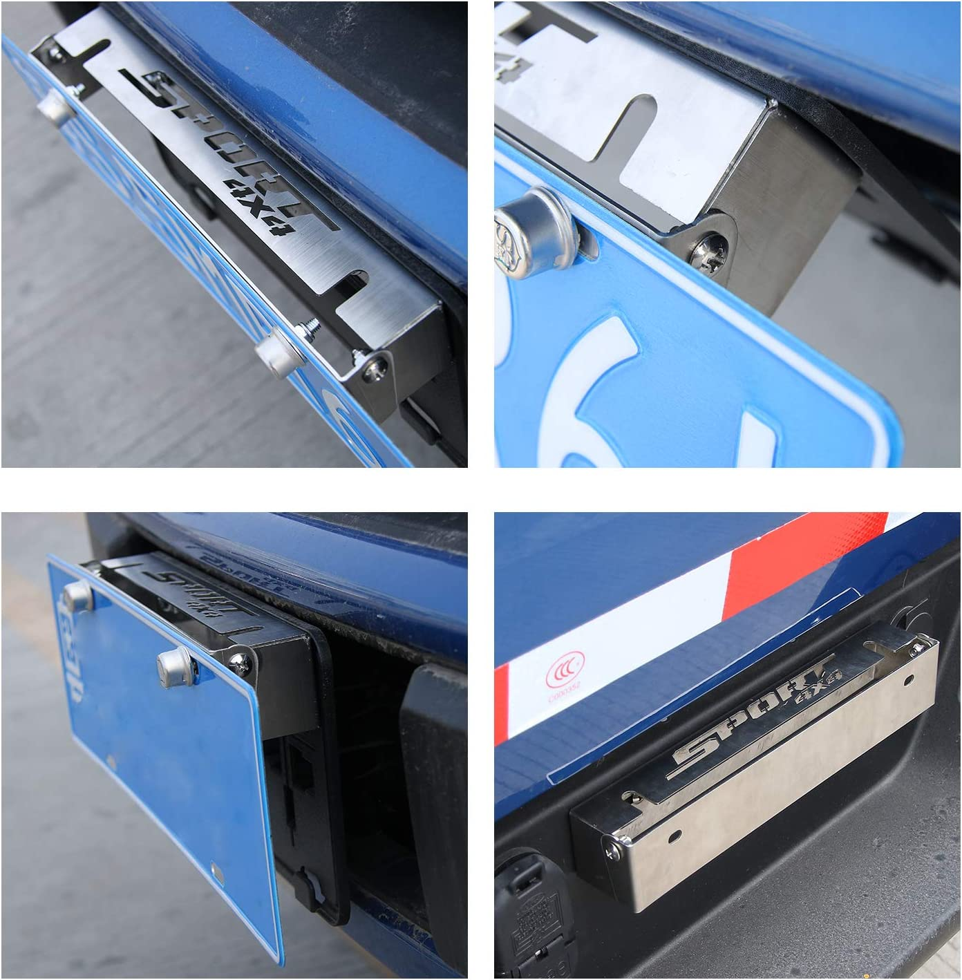Auto License Plate Frame Holder Mount Bracket Car Exterior Accessories for Ford F150 2009+