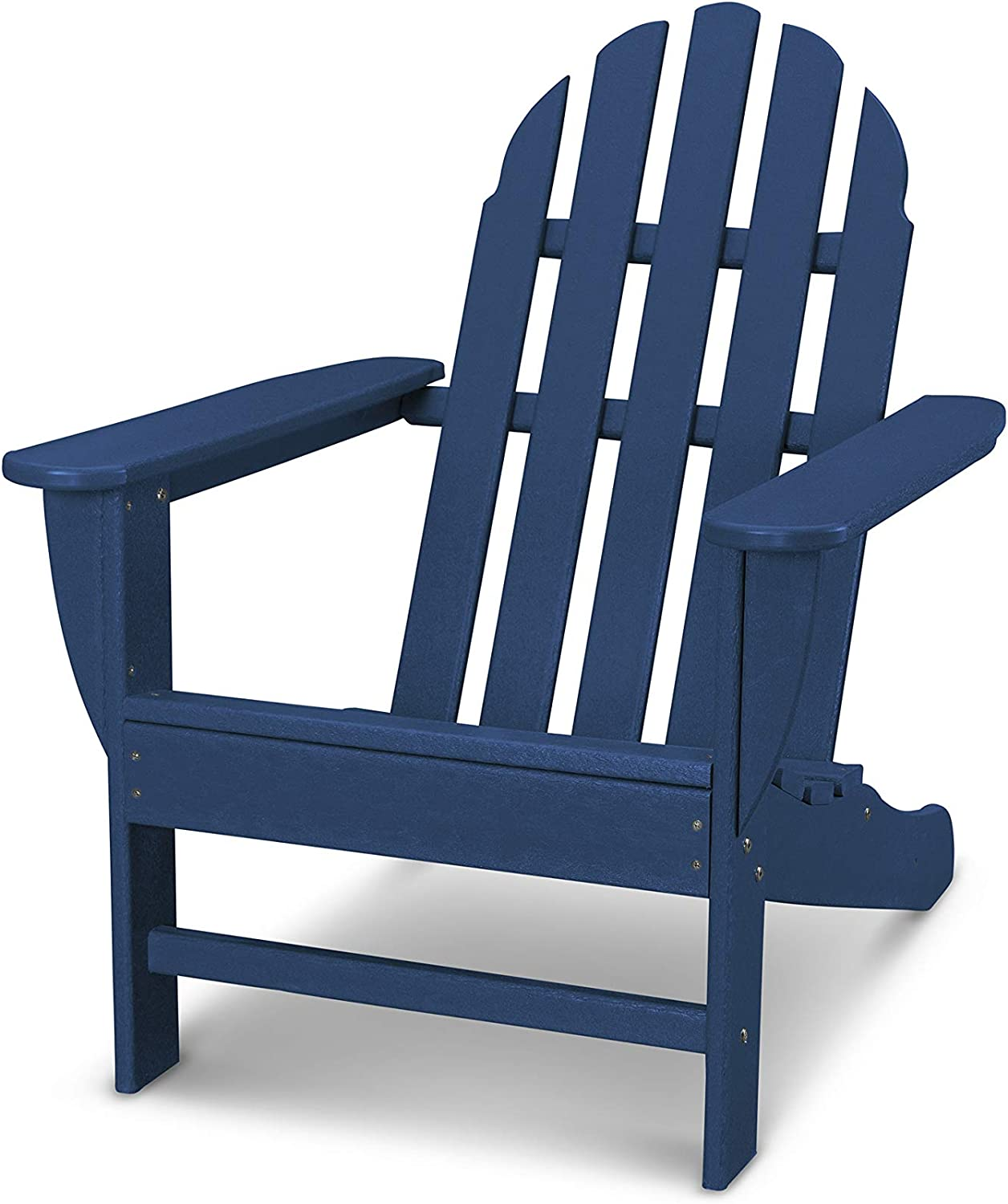POLYWOOD AD4030NV Classic Adirondack Chair, Navy