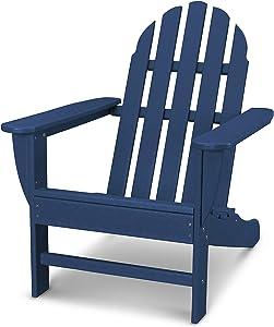 POLYWOOD AD4030NV Classic Adirondack Chair, Navy