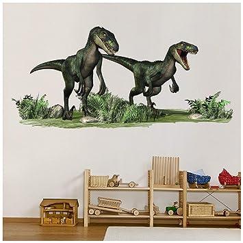 Azutura Velociraptor Dinosaurier Wandtattoo Jurassic Dino Wand