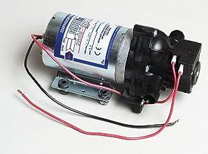 Pentair SHURflo 2088-343-135 Automatic-Demand Diaphragm Pump, 3.0 GPM With Viton Valves, Santoprene Diaphragm, 40 PSI Demand Switch, 12V, 1/2