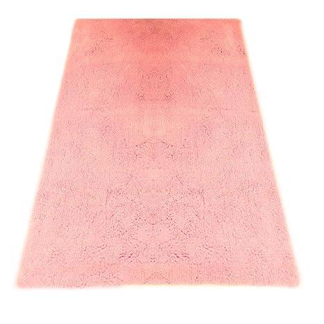 graccioza Pureza Cachemira alfombra de baño, bambú algodón, Porce Pink, Medium