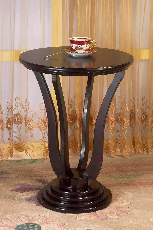 Amazon Frenchi Home Furnishing Round End Table Espresso Kitchen Dining