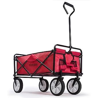 Rouge chariot chariot de transport chariot chariot de transport pliable
