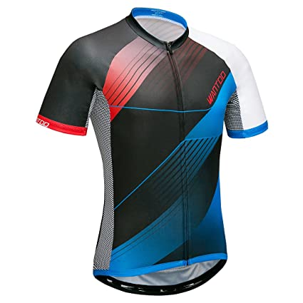 43ac191fa Amazon.com   Wantdo Men s Short Sleeve Cycling Jersey with 3 Rear ...