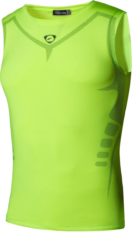 jeansian Men's Sport Quick Dry Compression Sleeveless T-shirt Tank Top Vest LSL207