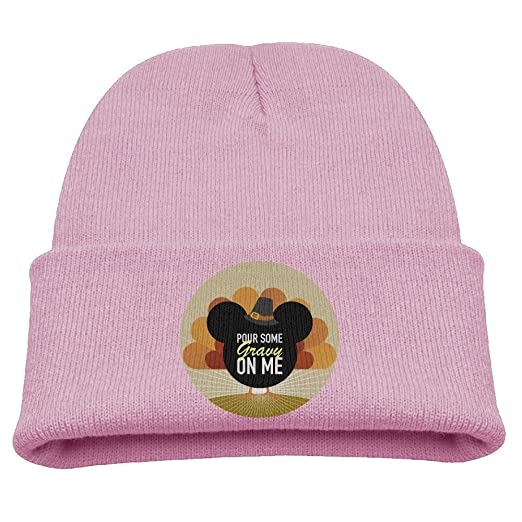 Kids Hats Children Pour Some Gravy On Me Turkey Thanksgiving Day Wool Cap  Cute Beanies Knitted 6195df148fca