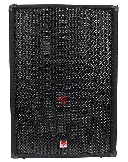 "Rockville 15"" 3-Way 1500 Watt 8-Ohm Passive DJ/Pro Audio PA Speaker 15 inch  RSG15 4"