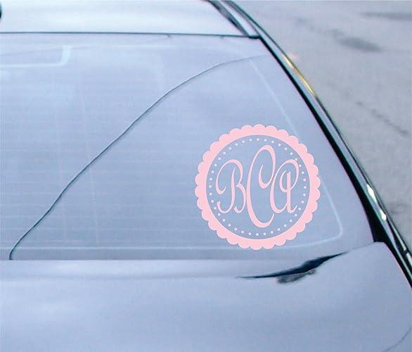 Amazoncom Car Decal Monogram Window Sticker SF Handmade - Monogram car decal amazon
