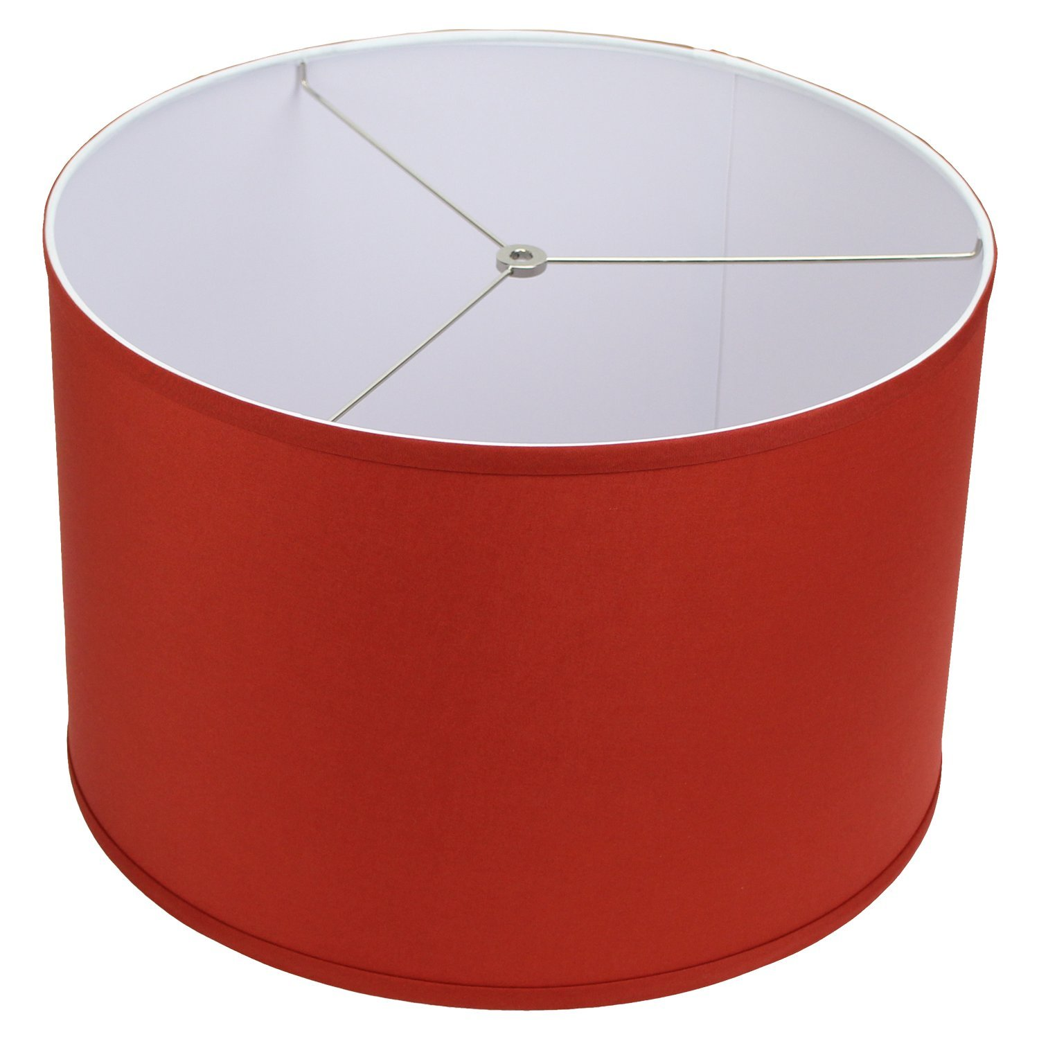 FenchelShades.com 18'' Top Diameter x 18'' Bottom Diameter 12'' Height Cylinder Drum Lampshade USA Made (Paprika) by FenchelShades.com