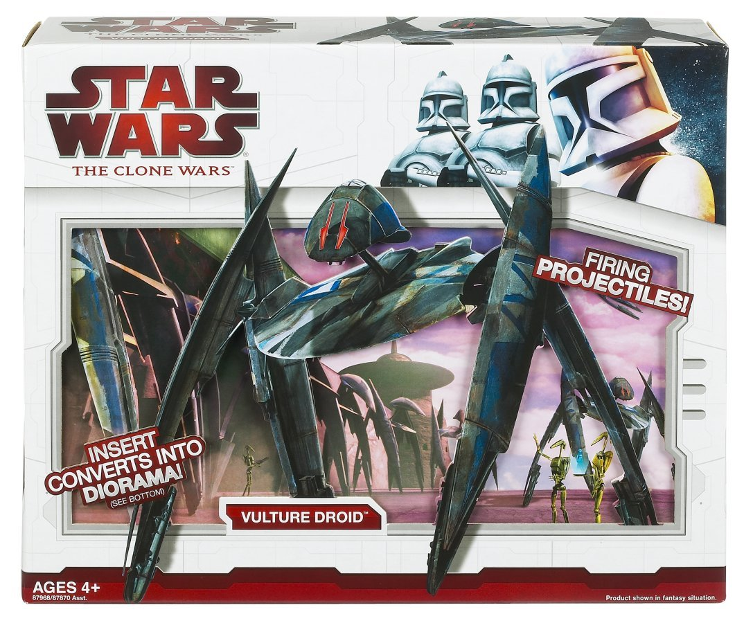 Star Wars Clone Wars Star Fighter Vehicle Super Vulture Droid