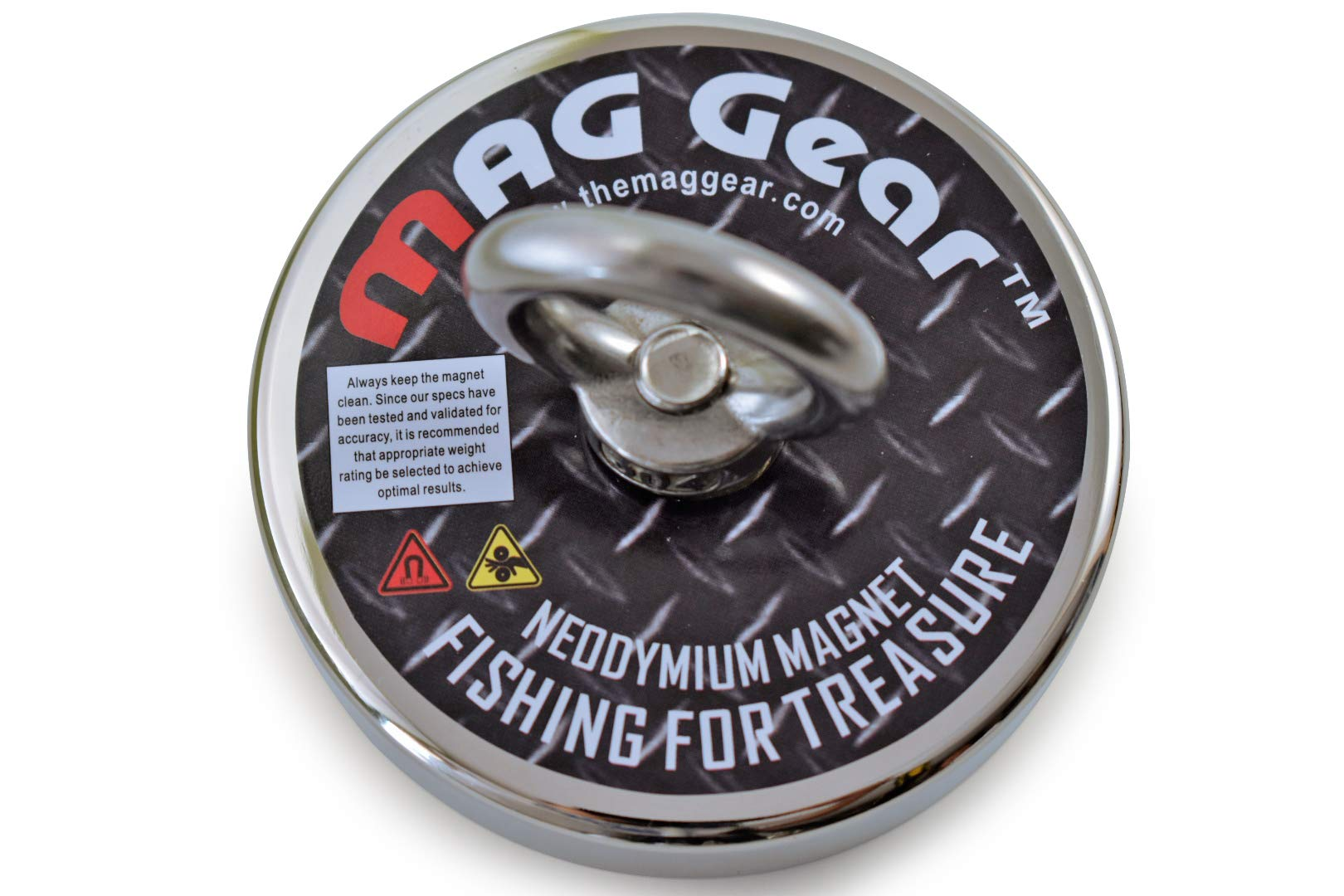 Salvage Magnet by MAG Gear 890lb Pulling Force Super Strong Fishing Magnets 3.54inches-90mm Diameter Neodymium Fishing Magnet for Retrieving and Magnet Fishing | 0.7inch - 17.8mm Thick Large Magnets