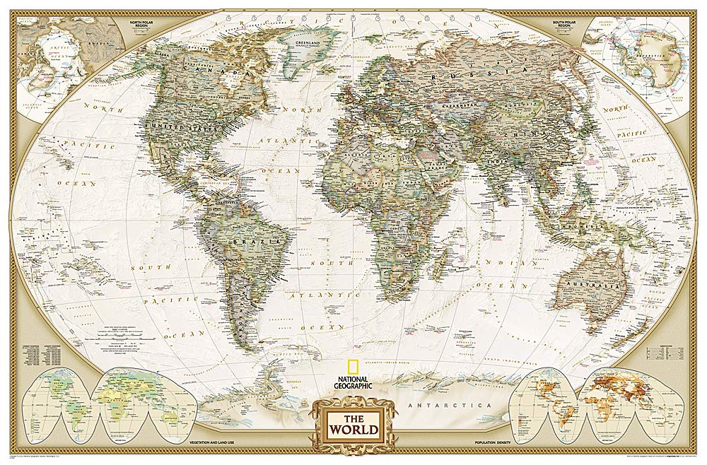 **world political executive antique186 cm X 125 cm