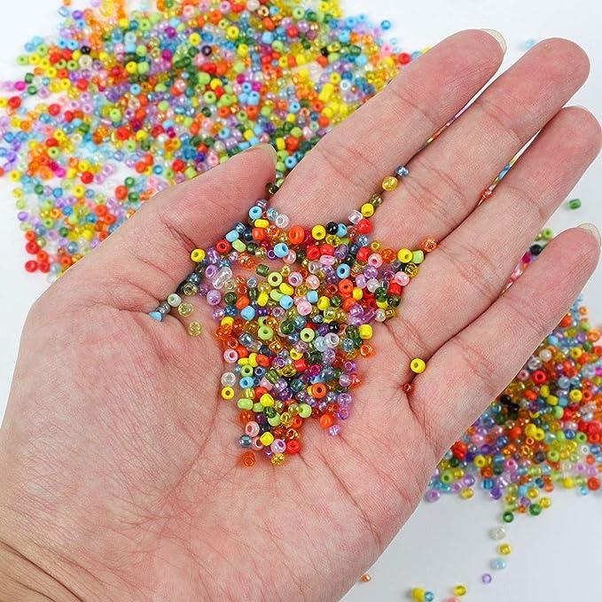 Cristal AB Metálico Iridiscente polifacético semilla del grano Pulseras Micro grano