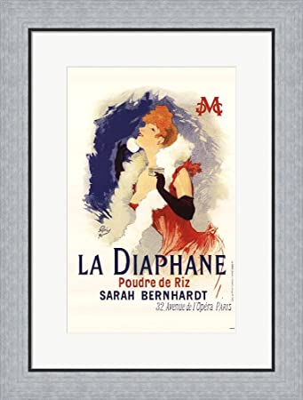 Amazon.com: Diaphane by Jules Cheret Framed Art Print Wall Picture ...