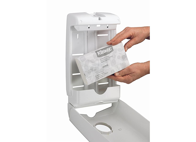 KLEENEX* SLIMFOLD Toallas Secamanos 7693-8 paquetes x 90 servicios de color blanco y 1 capa