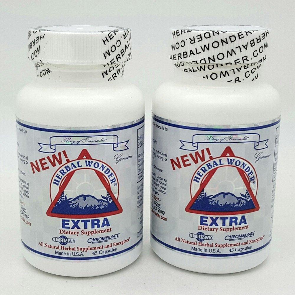 New! Herbal Wonder Extra 45 Capsules x 2 Pack by Herbal Wonder