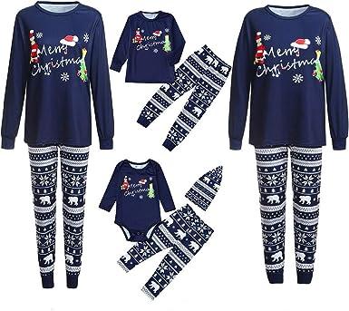 Family Matching Christmas Pajamas Set Women Men Baby Kids Sleepwear Nightwear UK