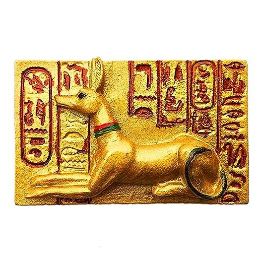Mythical Totem Dog God Egypt 3D Refrigerador Imán de Nevera Ciudad ...