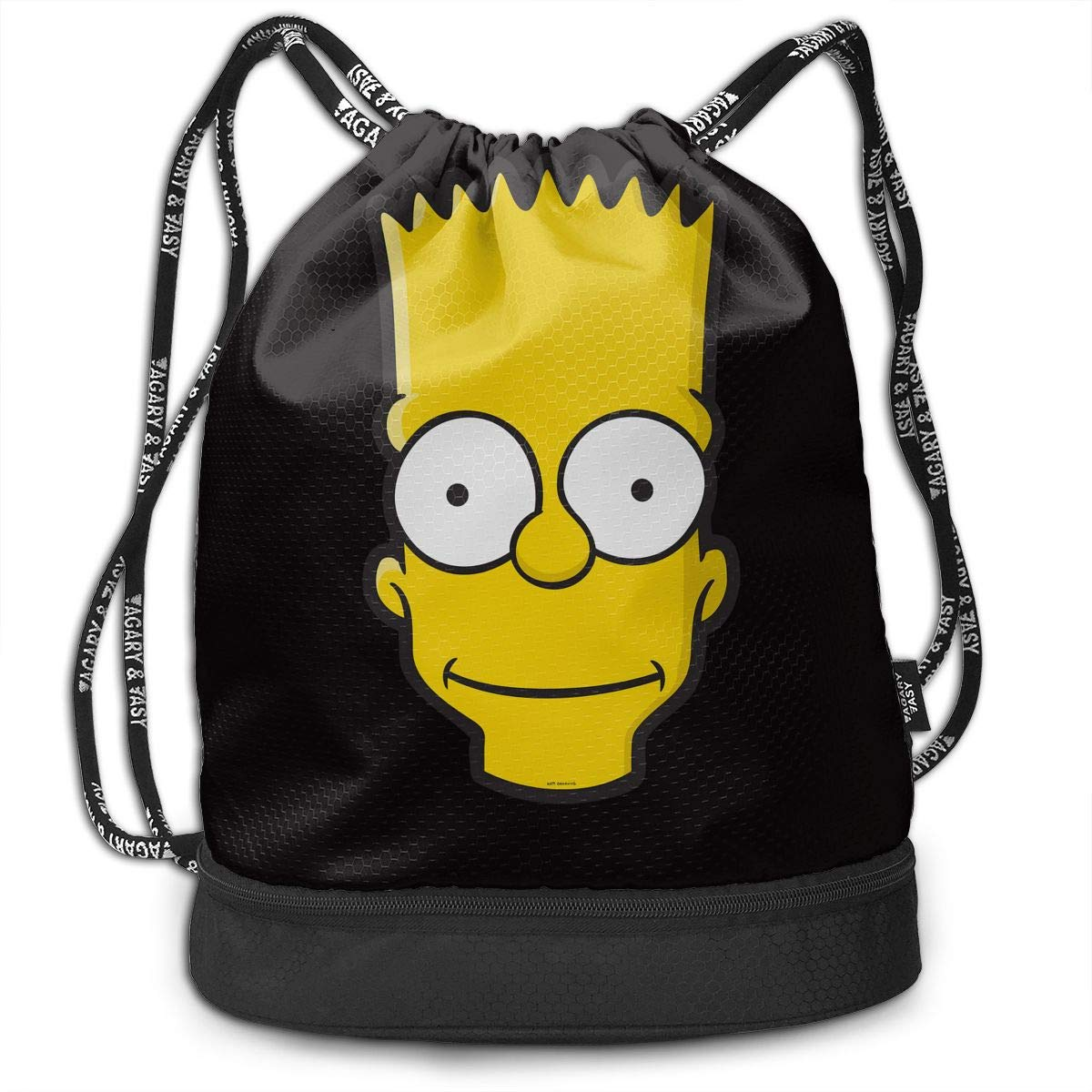 Men&Women Bart Simpson Gym Bag Lightweight Drawstring Backpack Hiking Travel Beach Yoga Running Sport Bookbag by LOPSCV