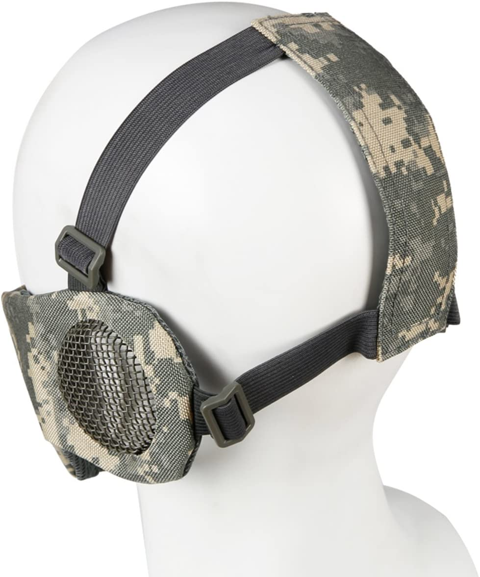Tactical Mask Unisex Practical Breathable Ear Protection Airsoft Mask Outdoor Mesh Mask