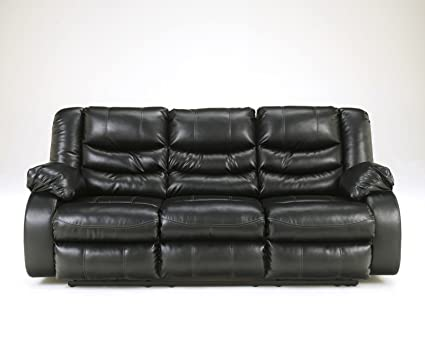Ordinaire Signature Design By Ashley 9520288 Linebacker DuraBlend Collection  Reclining Sofa, Black