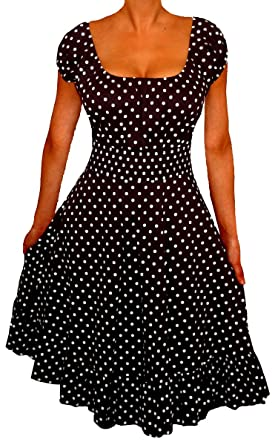 Funfash Plus Size Clothing for Women Polka Dots Rockabilly Retro ...