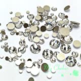 Swarovski clear CRYSTAL (001) 144 pieces 2058/2088 Crystal Flatbacks rhinestones nail art mixed with Sizes ss5, ss7, ss9, ss12, ss16, ss20, ss30