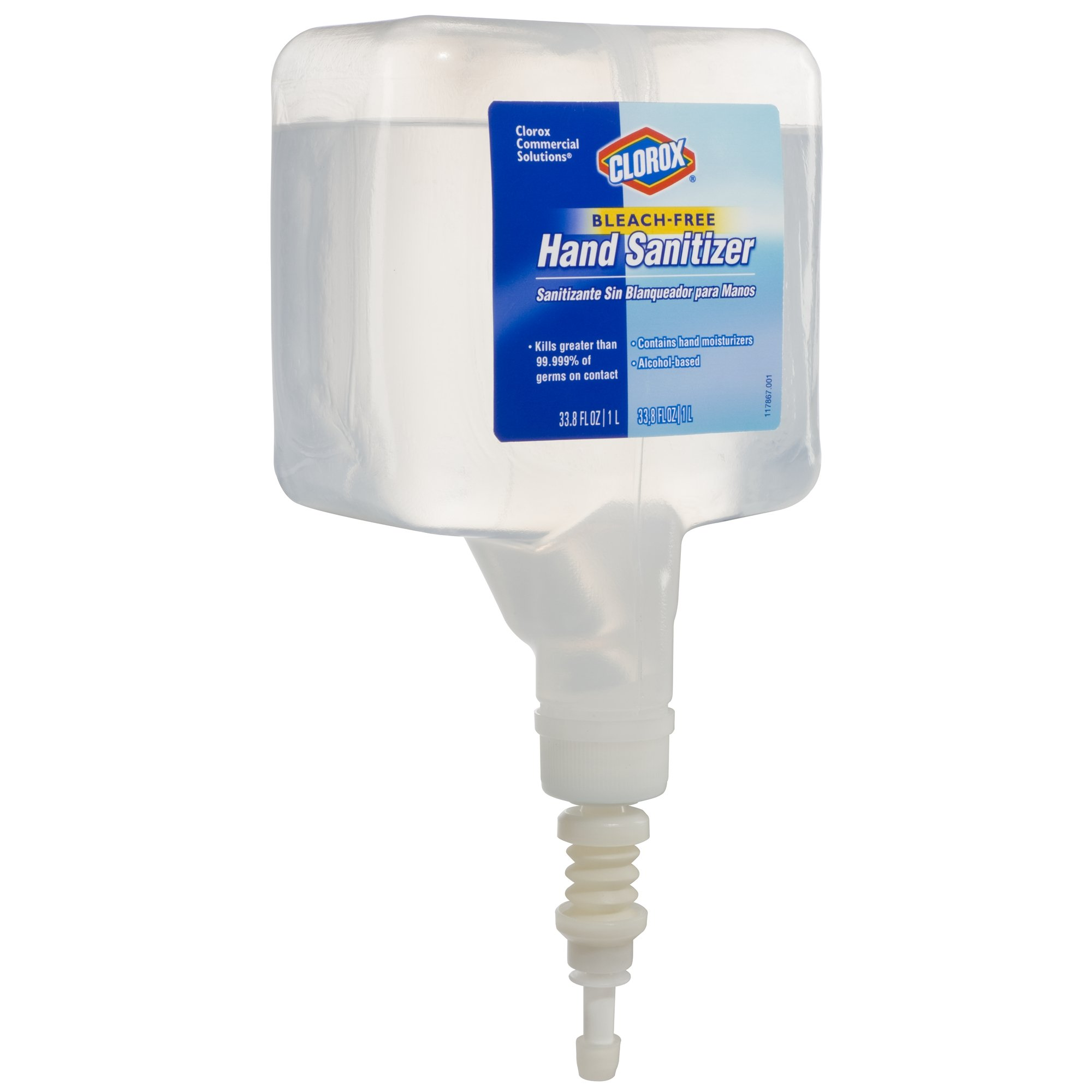 Clorox 30243 Commercial Solutions Touchless Hand Sanitizing Spray Dispenser Refill, 1000 ml by Clorox (Image #4)