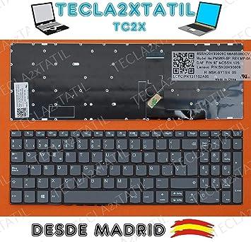 Teclado para PORTATIL Lenovo IDEAPAD 320-15ABR 320-15IAP 320-15AST ESPAÑOL Gris SIN Marco Ver Foto
