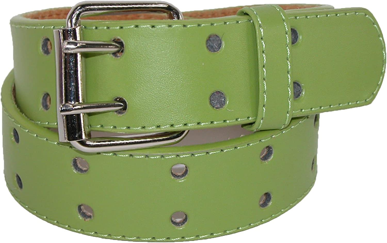 CTM Kids Leather Two Hole Jean Belt