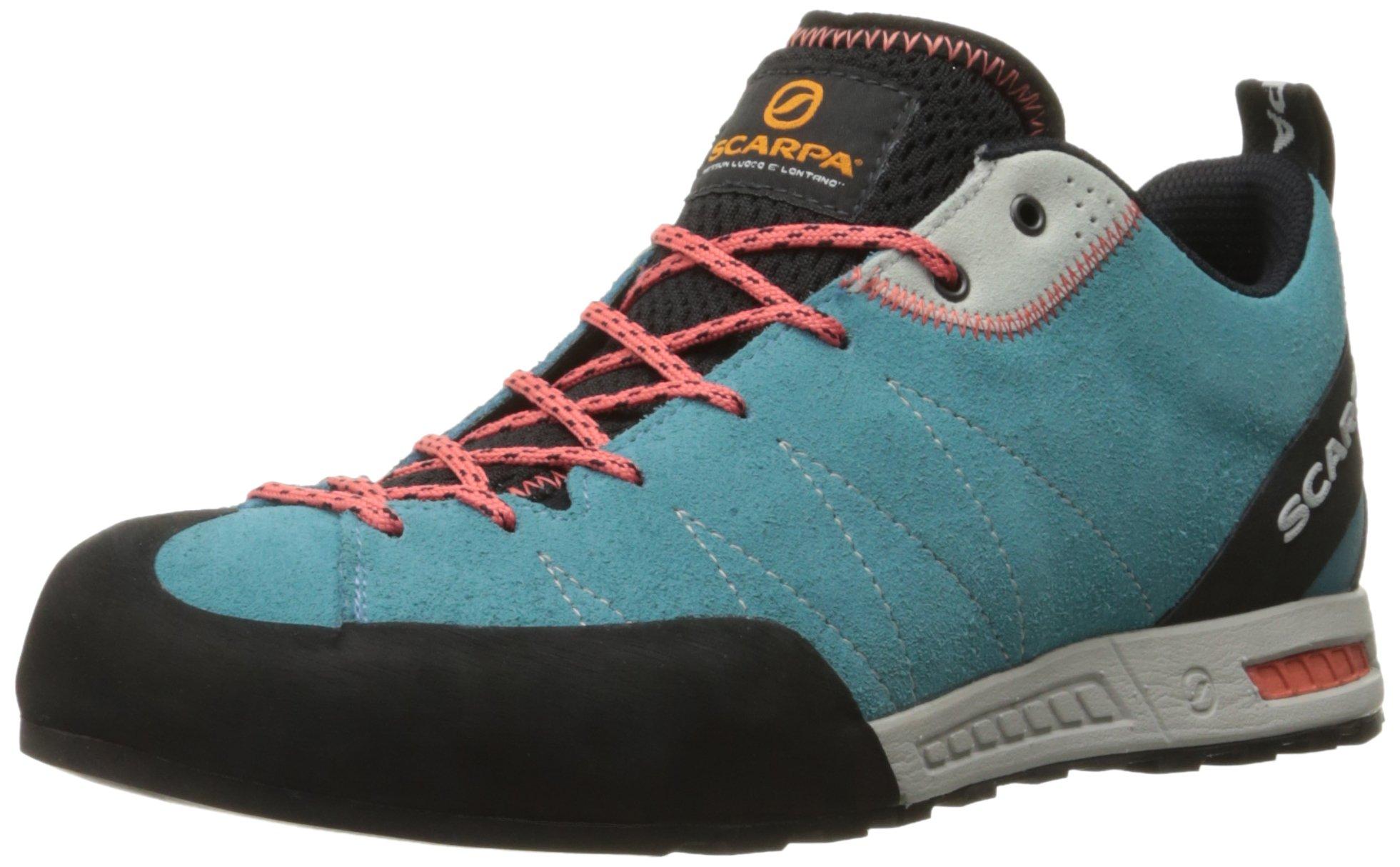 SCARPA Women's Gecko Wmn Approach Shoe, Ice Fall Brown/Coral Red, 37 EU/6 M US