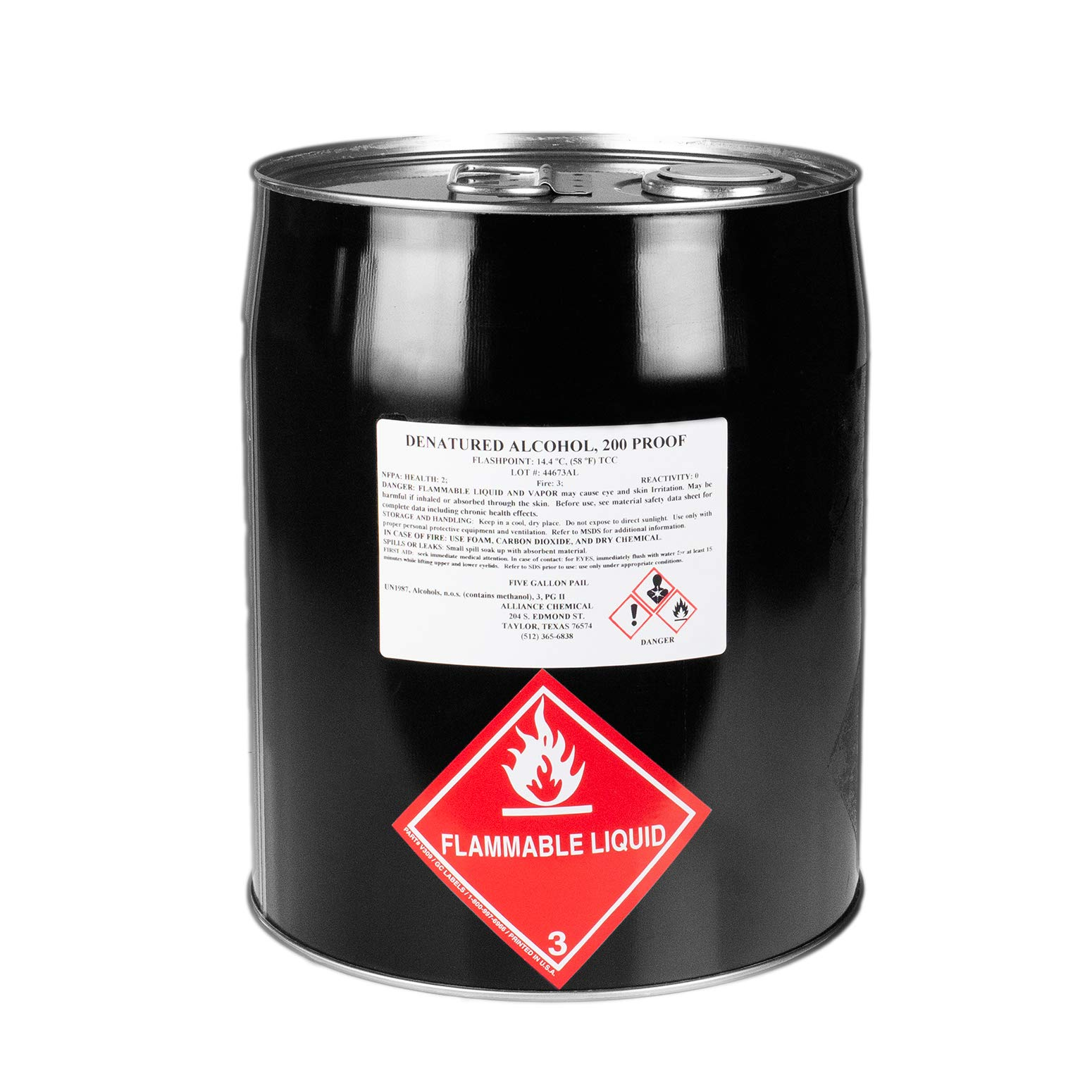 Denatured Alcohol 200 Proof - Five Gallon Pail by Alliance Chemical
